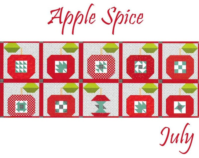 READY TO SHIP Riley Blake Monthly Table Runner Kit Apple Spice - Shipping July 2019