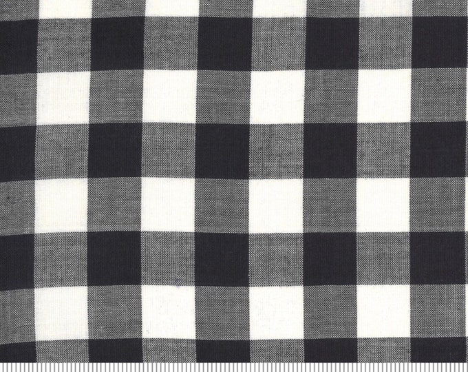 Moda Low Volume Check Charcoal Fabric by Moda Wovens