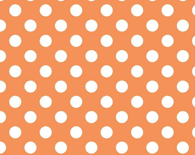 Medium Dot Orange Fabric by Riley Blake Designs