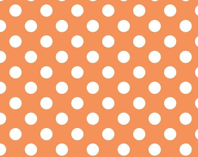 Medium Dot Orange Fabric by Riley Blake Designs