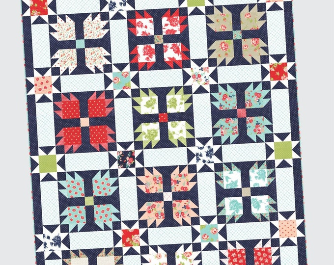Over the Moon Quilt Pattern from Thimble Blossoms by Camille Roskelley