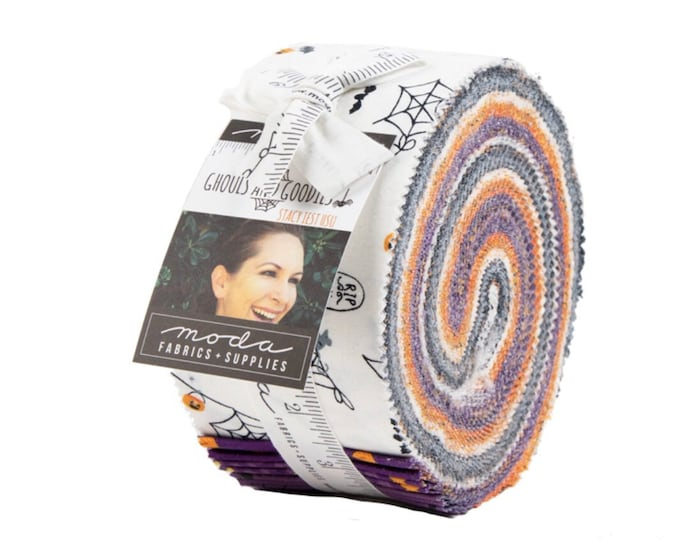 Ghouls and Goodies Jelly Roll by Stacy Iest Hsu for Moda - 42 Pieces