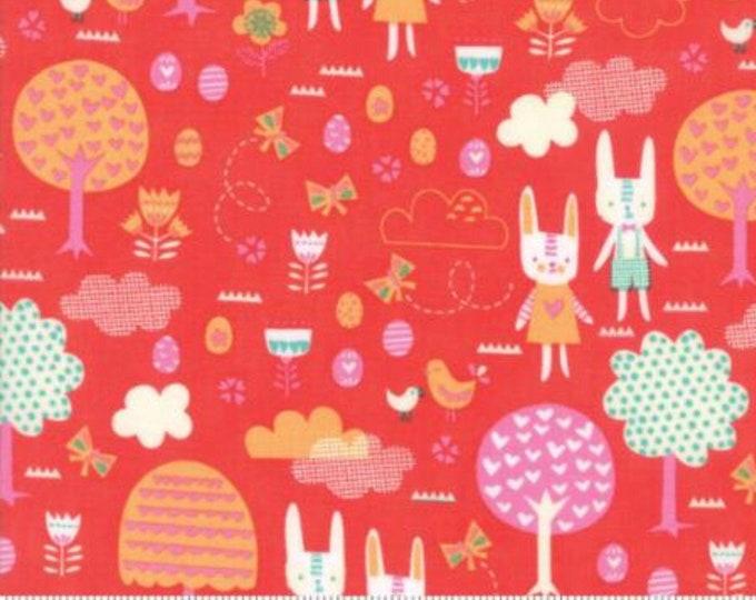 Moda Spring Bunny Fun - Geranium by Stacy lest Hsu