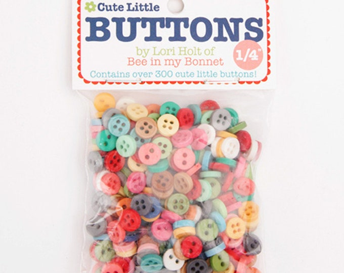 "1/4"" Cute Little Buttons by Lori Holt of Bee in my Bonnet for Riley Blake Designs"