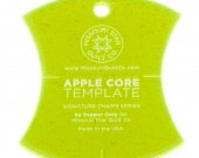 "Missouri Star Small Apple Core (4 1/2"") Template for 5"" Charm Packs"