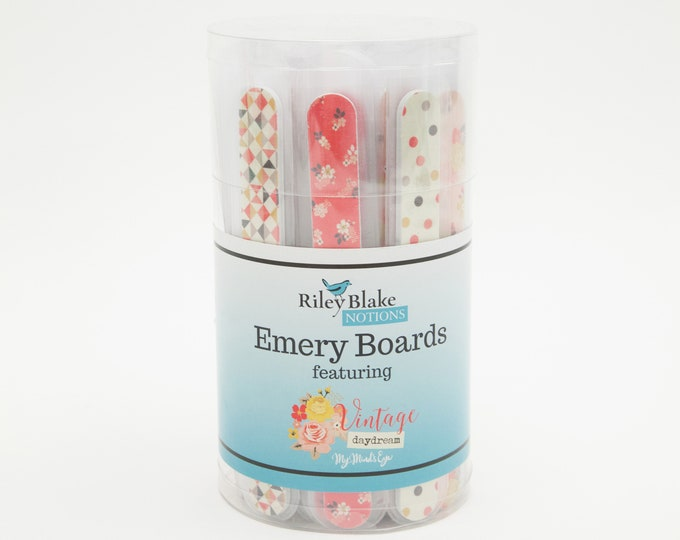 Set of Four Emery Boards featuring Vintage Daydreams by My Mind's Eye for Riley Blake Designs