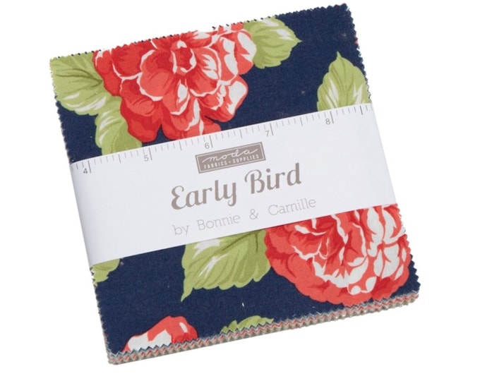 "Early Bird 5"" Charm Pack by Bonnie & Camille for Moda - 42 Pieces"