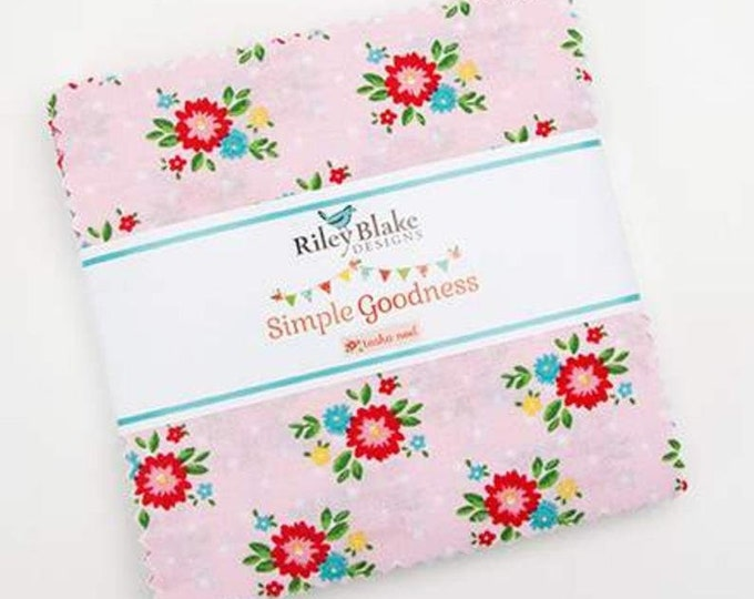 "Simple Goodness 5"" Stacker by Riley Blake Designs - 42 Pieces"