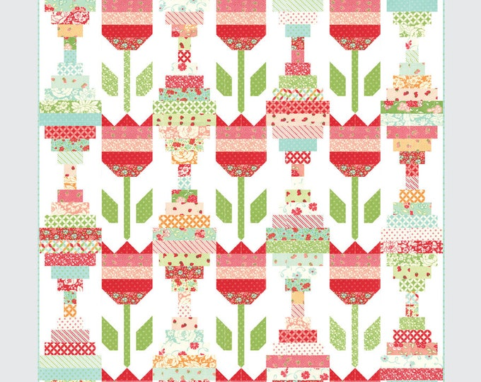 Vintage Tulips Quilt Pattern from Thimble Blossoms by Camille Roskelley