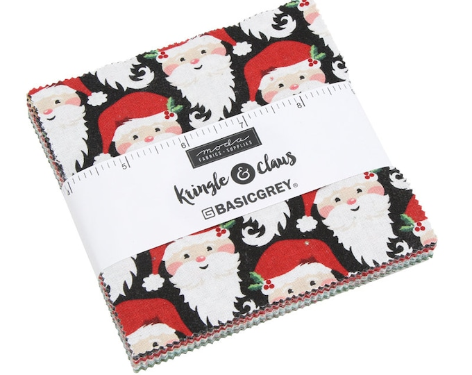 "Kringle Claus 5"" Charm Pack by BasicGrey for Moda - 42 Pieces"