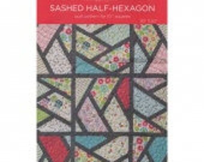 """MSQC Sashed Half-Hexagon Quilt Pattern for 10"""" Squares"""