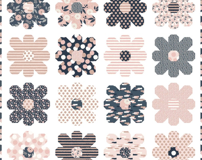 Kelli Fannin Quilt Designs - Flower Power Quilt Pattern