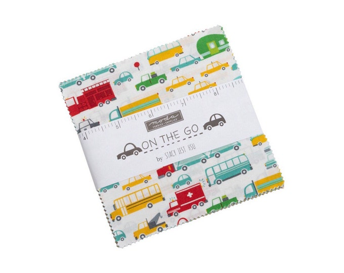 """On the Go 5"""" Charm Pack by Stacy Iest Hsu for Moda - 42 Pieces"""