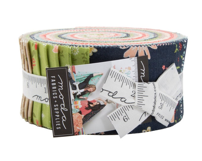 Harpers Garden Jelly Roll by Sherri and Chelsi for Moda - 42 Pieces