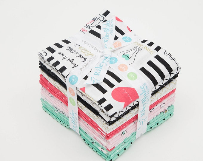 Shine Bright Fat Quarter Bundle by Simple Simon and Company  for Riley Blake Designs - 21 Pieces