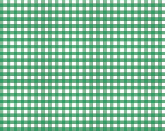 1/4 Woven Gingham Riley Green Fabric by Riley Blake Designs