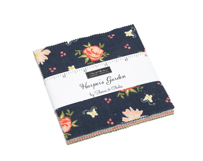 "Harpers Garden 5"" Charm Pack by Sherri and Chelsi for Moda - 42 Pieces"