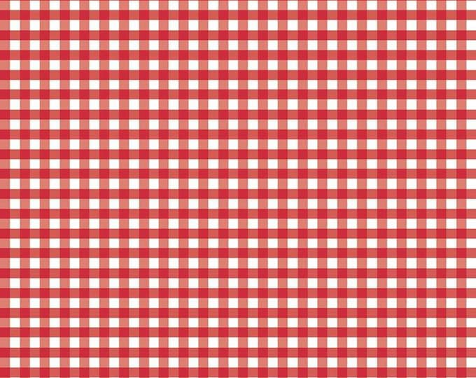 1/4 Woven Gingham Red Fabric by Riley Blake Designs