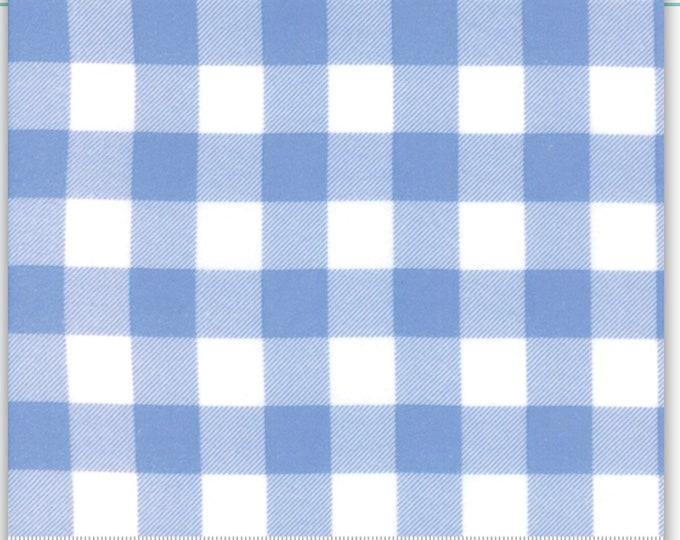 Moda Buffalo Check FLANNEL Fabric Blue and White