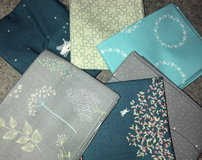 Fairy Edith Fat Quarter Bundle by Amanda Castor for Material Girl Quilts by Riley Blake Designs - 6 Pieces