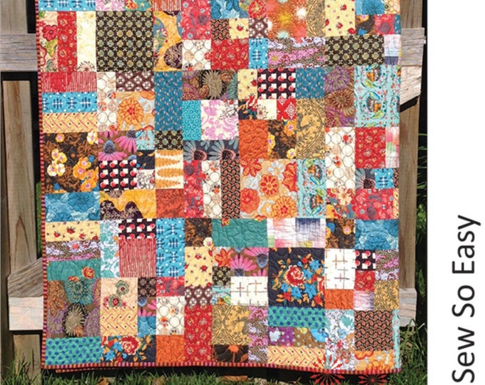 Around the Block Quilt Pattern by Lynne Wilson Designs