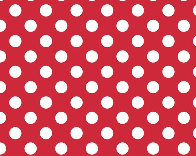 Medium Dot Red Fabric by Riley Blake Designs