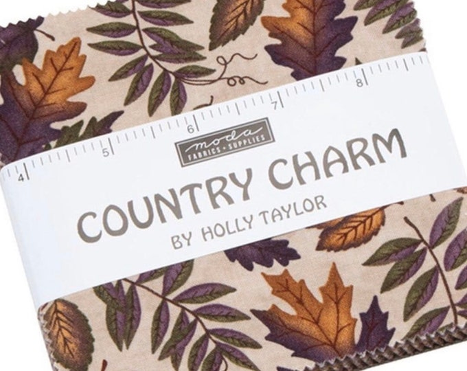 """Country Charm 5"""" Charm Pack by Holly Taylor for Moda - 42 Pieces"""