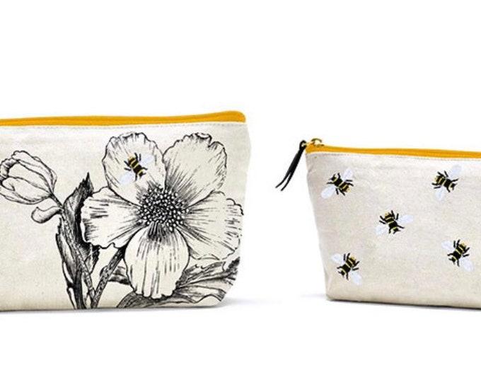 Queen Bee Canvas Bag Set of 2