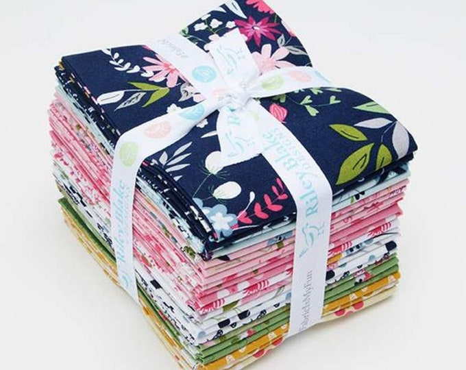 In The Meadow Fat Quarter Bundle by Keera Job  for Riley Blake Designs - 21 Pieces