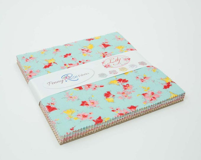 "Lily 10"" Stacker by Sue Penn for Penny Rose Fabrics - 42 Pieces"