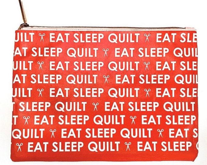 """Moda Vinyl 6""""X8"""" Eat Sleep Quilt Bag"""