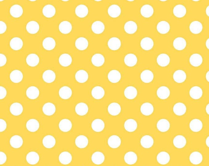 Medium Dot Yellow Fabric by Riley Blake Designs