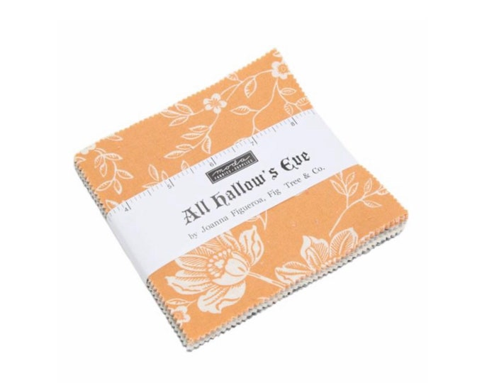 """All Hallows Eve 5"""" Charm Pack by Fig Tree & Co for Moda - 42 Pieces"""