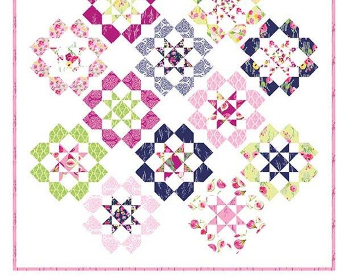 Dozen Roses Quilt Pattern by Keera Job for Riley Blake Designs