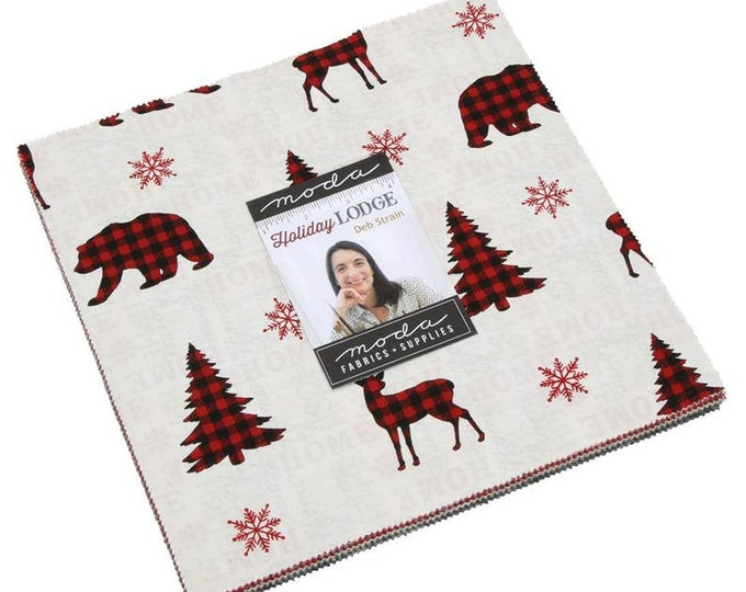 "Holiday Lodge 10"" Layer Cake by Deb Strain for Moda - 42 Pieces"