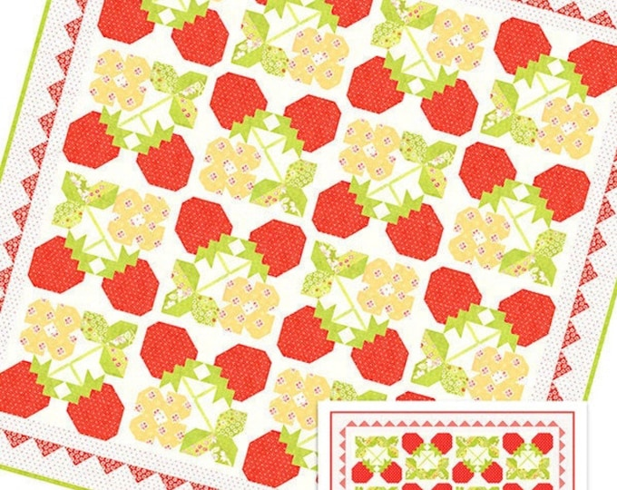 Strawberry Blossoms Quilt Pattern from Fig Tree & Co