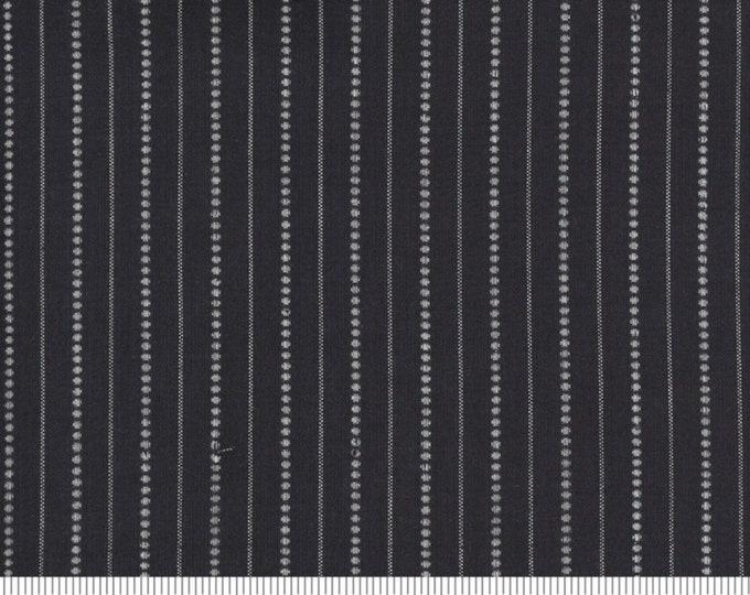 Moda Low Volume Stripe Charcoal Fabric by Moda Wovens