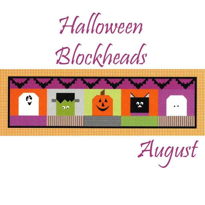 PRE-ORDER Riley Blake Monthly Table Runner Kit Halloween Blockheads Shipping August 2019