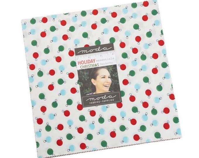 """Holiday Essentials Christmas 10"""" Layer cake by Stacy Iest Hsu for Moda - 42 Pieces"""
