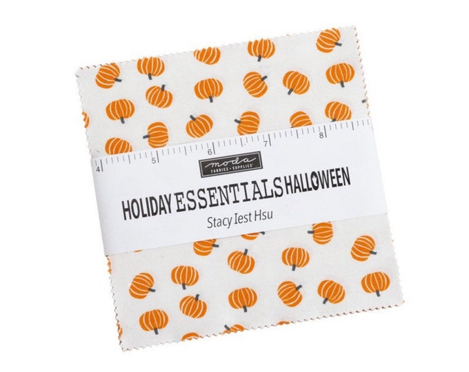 """Holiday Essentials Halloween 5"""" Charm Pack by Stacy Iest Hsu for Moda - 42 Pieces"""