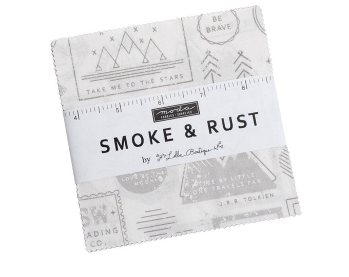 """Smoke & Rust 5"""" Charm Pack by Lella Boutique  for Moda - 42 Pieces"""