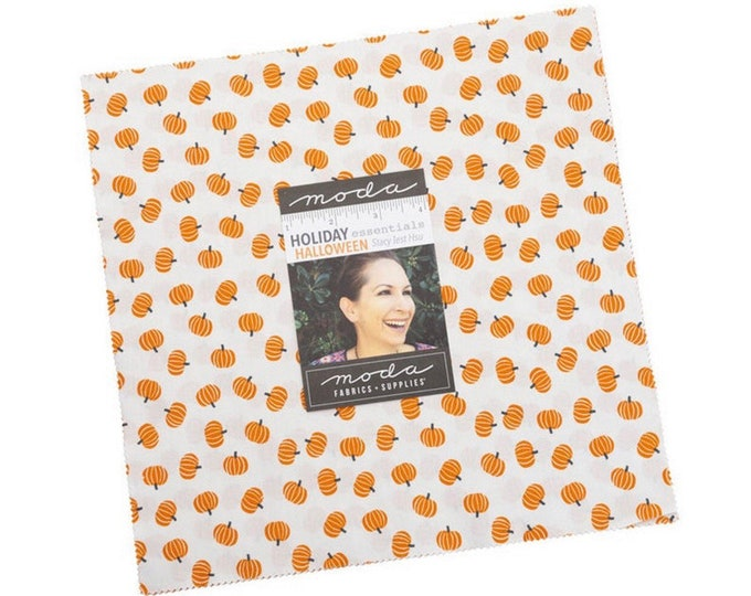 """Holiday Essentials Halloween 10"""" Layer cake by Stacy Iest Hsu for Moda - 42 Pieces"""