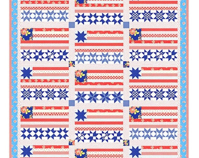 Stars and Stripes Forever Quilt Pattern from Fig Tree & Co - Patriotic Quilt