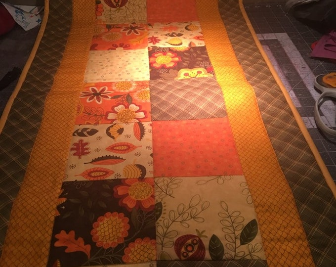 Quilted Thanksgiving Table Runner, Fall Table Runner