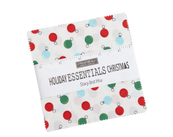 """Holiday Essentials Christmas 5"""" Charm Pack by Stacy Iest Hsu for Moda - 42 Pieces"""