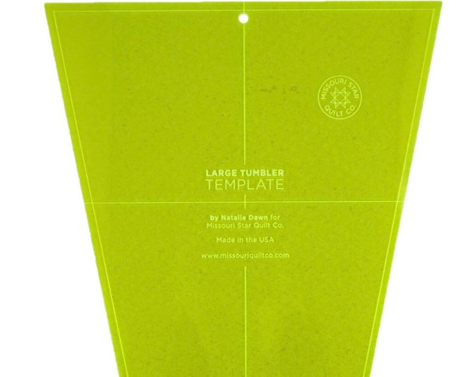 """Missouri Star Large Tumbler Template for 10"""" Layer cakes"""