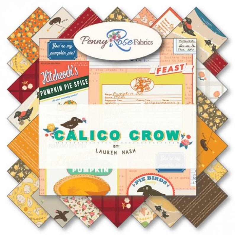 40 Pieces Calico Crow 2.5 Inch Rolie Polie Bundle by Lauren Nash for Penny Rose Fabrics