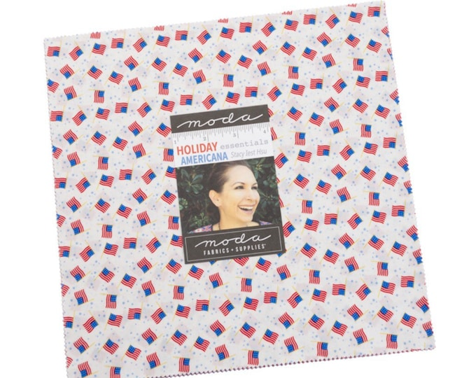 """Holiday Essentials Americana 10"""" Layer cake by Stacy Iest Hsu for Moda - 42 Pieces"""