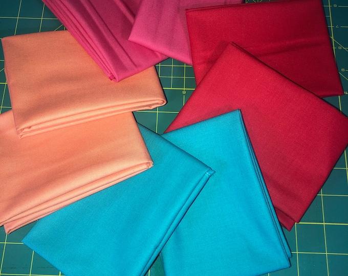 Solid Colors Fat Quarter Bundle by Riley Blake Designs  - 8 Pieces