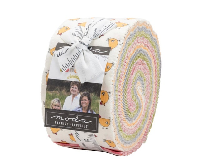 Spring Chicken Jelly Roll by Sweetwater for Moda - 42 Pieces